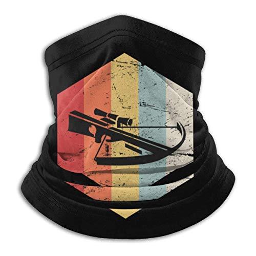 Retro Vintage ballesta caza icono cuello polaina calentador a prueba de viento sombreros UV pasamontañas bufanda para deportes al aire libre negro