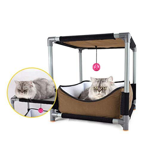Hondenhok en Cathousepet Kattenbed Kat Speeltent Speelgoed Activiteit Speelbed Comfortabel en warm Hondenhuis Kattennest Lengte 36 cm Breed 36 cm Hoog 71 cm
