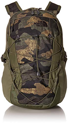 The North Face Borealis Men's Backpack, Burnt Olive Green Waxed Camo Print/Burnt Olive Green