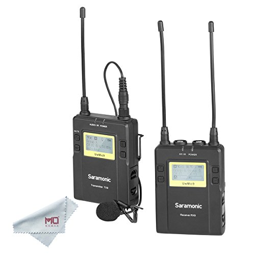 Saramonic UwMic9 96-Channel Digital UHF Wireless Lavalier Microphone System for DSLR, Mirrorless Cameras and iPhone, iPhone