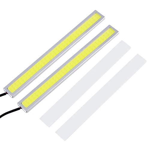 Greatangle 1 Paar 8W 14cm COB LED Auto DRL Fahren Tagfahrlicht Nebelscheinwerfer Bar 6 Arten für Choice Silber Shell White Light