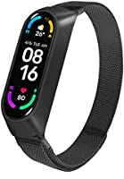 Superpow strap Compatible with Xiaomi Mi Band 6 / Xiaomi Mi Band 5 Stainless Steel Strap for Mi Band 5 / Mi Band 6,...