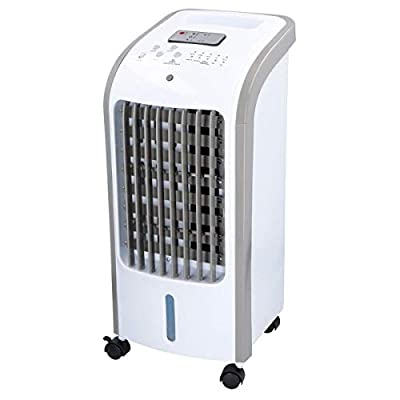 Greenfields 80W Portable Evaporative Air Cooler with Remote Control, 3 Fan Speeds, 7.5 Hour Timer and 4 Litre Water Tank for Home or Office Use Humidification and Cooling Functions
