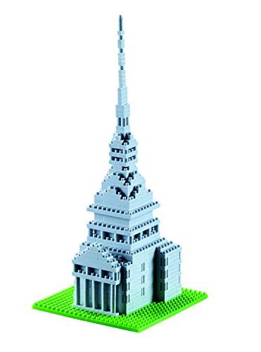 Brixies 410098–Mole Antonell Iana, 3D de Puzzle, Italy Edition, 433Piezas, Nivel de dificultad 4, Muy Pesado, Multicolor