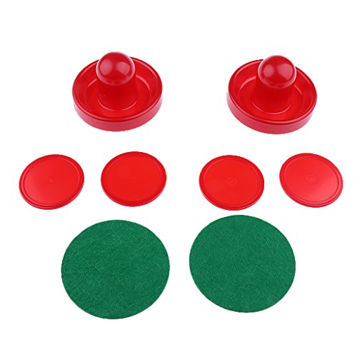 Buy Discount Toygogo Set of 2 Air Hockey Pushers and 4 Red Pucks for Kids Adults – 3 Sizes and 2 Colors for Choose – Red, L