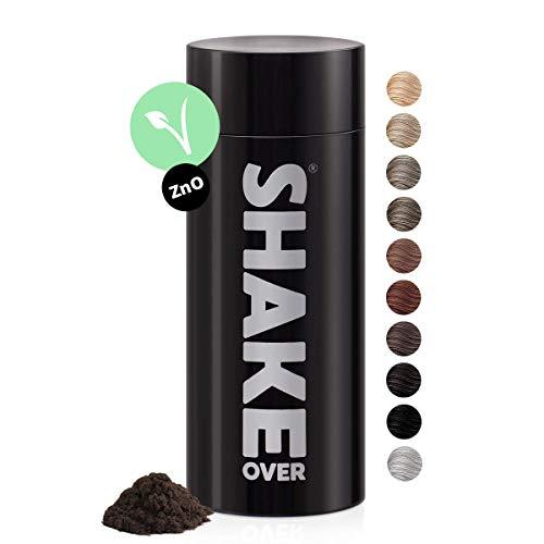 shake over© Veganes Streuhaar zur Haarverdichtung, mit Zink angereicherte Fasern, hochwertiges Schütthaar, Made in Europe (30 g, MEDIUM BROWN)