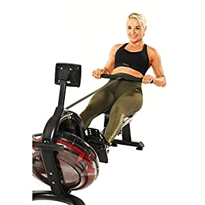 Fitness Reality 3000WR Bluetooth Water Rower Rowing Machine with HIIT Workout, Black (Renewed)
