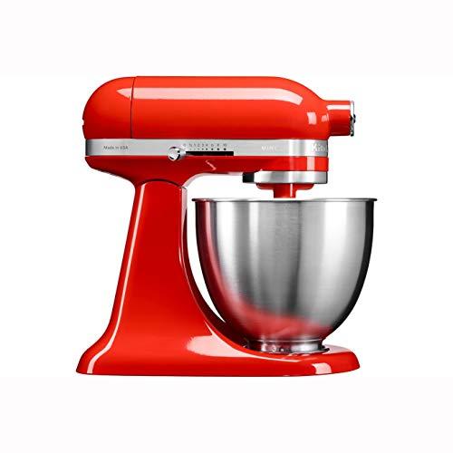 KitchenAid Mini 250W 3.3L Rojo - Robot de cocina -3,3 L, Rojo, palanca, 200 RPM, 1,219 m, CC