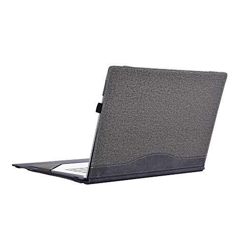 For Lenovo Yoga C930 / 920/910 / 900 Case, PU Leather Detachable Protective Laptop Cover for Yoga 7 Pro/Yoga 6 Pro/Yoga 5 Pro/Yoga 4 Pro Sleeve (For Yoga C940 14', grey)