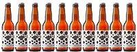 Pack de 10 'Honey & Apricot Amber Ale' (type bière ambrée au miel et à l'abricot). Bières Artisanales Françaises de Garde Haute Fermentation (33cl.). Houblons: Cascade, Amarillo. IBU: 22. Replongez-vous dans l'atmosphère des contes que l'on se racont...