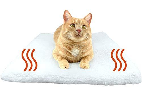 PurrCave® Selbstheizende Decke für Katzen u. Hunde mit Anti-Rutsch Gummi-Noppen | Besonders Kuschelige Wärmematte für Haustiere | Größe: 60x45cm | Katzendecke