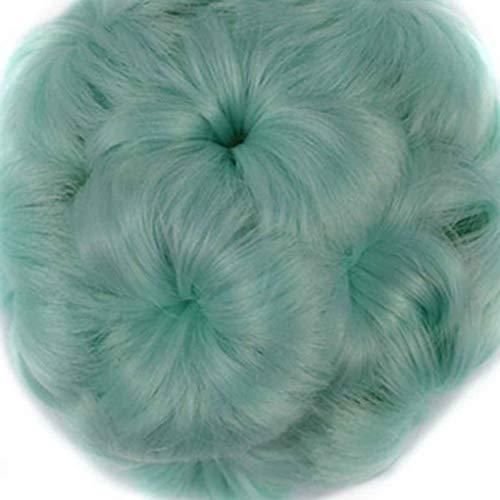 Elenxs Multi Couleurs Messy onduleux Extensions de cheveux bouclés queue de cheval postiches, Chouchous Clips Fleurs Chignons Ponytail postiches