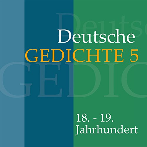 Deutsche Gedichte 5 - 18.-19. Jahrhundert Titelbild