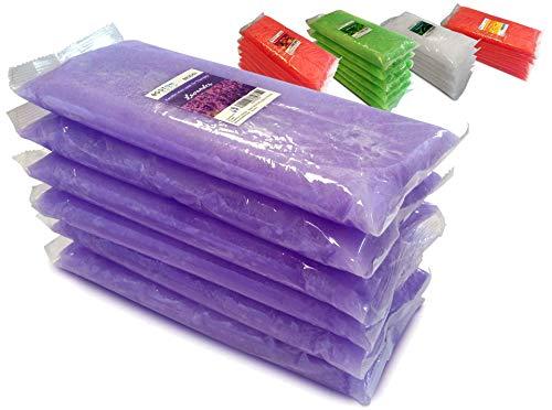 Boston Tech BE106-A reines Paraffinwachs 3 kg, 6 Blöcke à 500 g C / U. Ideal für jedes Paraffinbad. Therapeutische und ästhetische Verwendung. 4 verschiedene Aromen. Aroma von Lavendel
