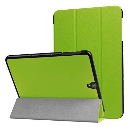 WiTa-Store Smart Cover Funda para Samsung Galaxy Tab S3SM de T820T8259,7Soporte Funda aufstellbares Case + Gratis Stylus Touch Pen Verde Verde