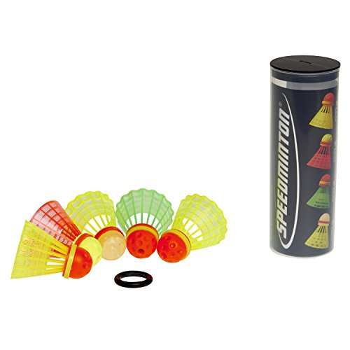 Speedminton MIX Speeder - 5er Pack Speed Badminton/Crossminton Bälle gemischt inkl. Windring