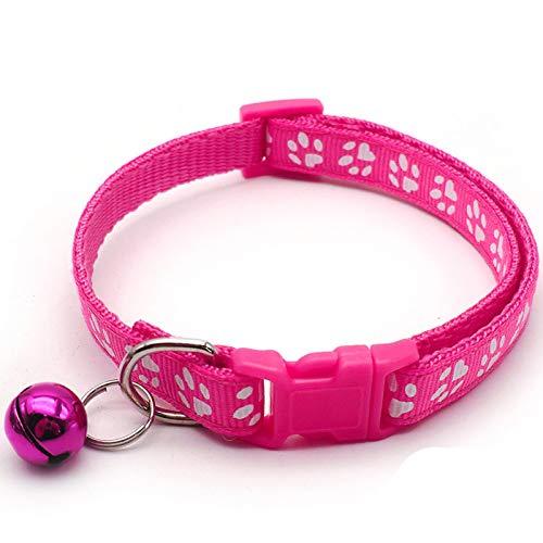 Collar de perro lindo para perros pequeños |Collar de perro de primavera con pata de cachorro de mascotas suave ajustable y collar de gato reflectante, regalo dulce para perros pequeños gatos mascotas