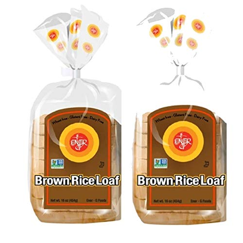 Gluten Free Brown Rice Loaf by Ener-G | Vegan Sliced Bread | Non-GMO, Kosher | Double Pack-16 oz/ 12 Slice Loaf