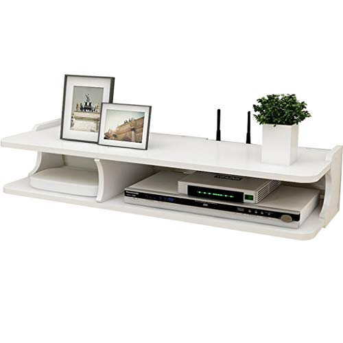 Witte TV Set-top Box Rack Router Storage Box Hangstelling TV Floating Shelf TV meubel TV Cabinet TV Console TV Shelf Cable Box DVD-speler Opslag Shelf (Size : A)