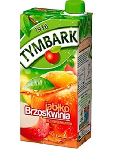 GroßhandelPL Tymbark Apfel - Pfirsich Getränke – Fruchtsäfte 24er Pack (24x1L)
