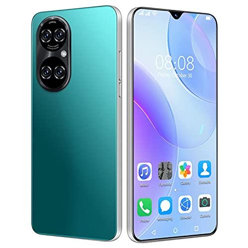 HJFGIRL Teléfono Móvil Libres 4G, P50pro Smartphone,8GB+ 256GB, Android 10 Octa-Core, 6.7' HD+ IPS Water-Drop Screen Smartphone Barato, 6800mAh, 32MP+50MP, Dual SIM/GPS/Face ID,Green-AU