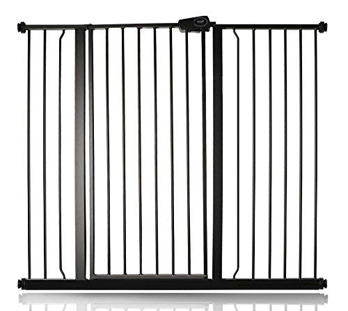 Bettacare Enfant et Animal Barrière de Sécurité Noire Mat 120.3cm - 127.9cm