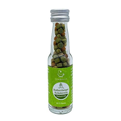 TEABALLS - Rothenberger Kräutermix, Kräutertee naturtrüb (1 x 12g) | ca. 150 Teaballs | für ca. 30-75 Tassen Tee | 100% rein pflanzlich | Bekannt aus: DAS DING DES JAHRES