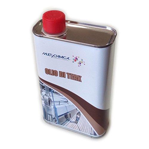 Multichimica OLIO DI TEAK 500ml protettivo per legno esterno alta resa