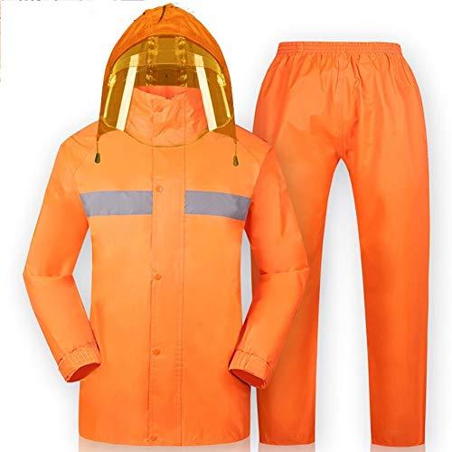 Traje de ropa impermeable al aire libre Poncho de lluvia Traje ropa impermeable con capucha impermeable lluvia a prueba de agua de lluvia pantalones acolchados Impermeable a prueba de agua Traje eléct
