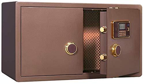 Caja fuerte de seguridad de huellas dactilares, caja fuerte de acero con contraseña dorada, tienda electrónica de 90 cm, caja fuerte para el hogar (color: marrón, talla grande), marrón, 90x50x40cm