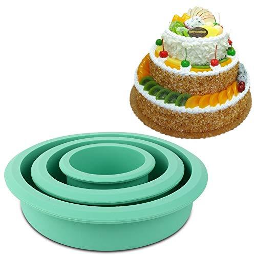 Socobeta Moule à gâteau Vert Moule de Cuisson en Silicone antiadhésif pour Magasin de Desserts pour gâteau au Miel