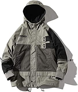 HAWEEL Hooded Casual Loose Coat Jacket for Men Windbreaker Jacket