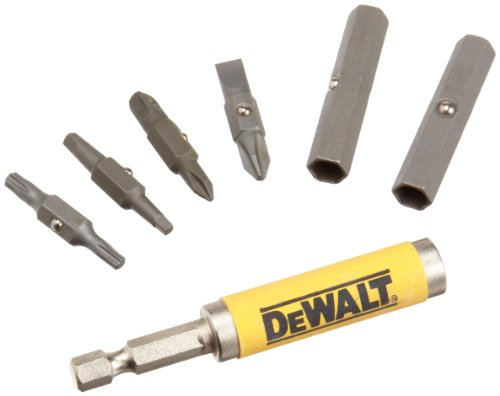 DEWALT Bit Set with 6-in-1 Flip and Switch Driver System, 7-Piece (DW2336)