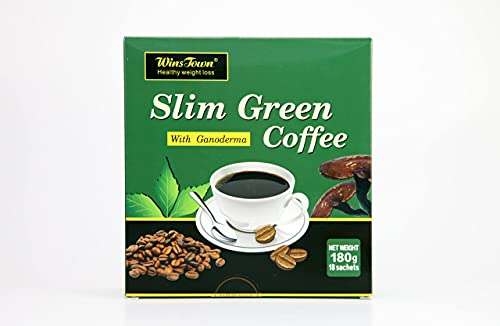 Weight Loss Slim Green coffee with Ganoderma for Women and Men The Best Fat Burner and Natural Appetite suppressant and Increase Satiety