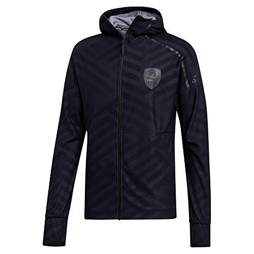 adidas Usav Zne Hoodie Sweatshirt, Herren, Sweatshirt, Usav Zne Hoodie, Schwarz/Grau/Karbon/Weiß, XX-Large