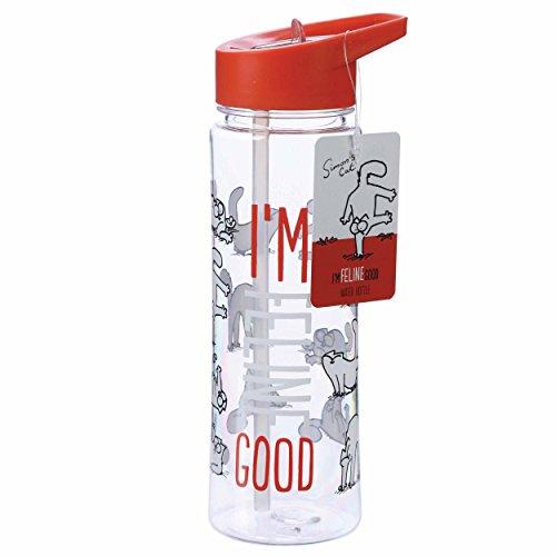 Puckator BOT15 - Botella de agua (500 ml, mezclada, altura 23 cm, ancho 9 cm, profundidad 6,5 cm)