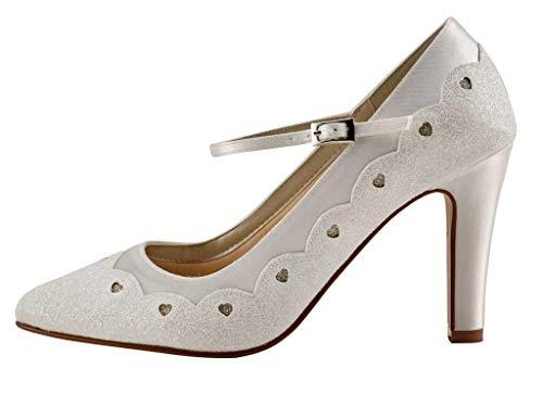 Rainbow Club Trixie - Zapatos de novia para mujer, de satén con...