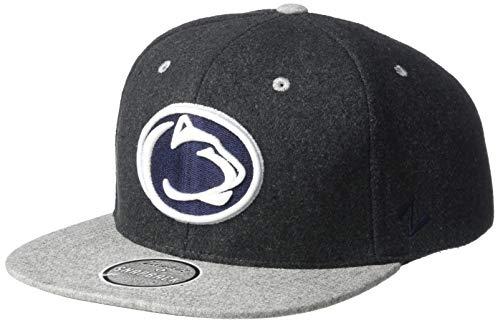 NCAA Zephyr Penn State Nittany Lions Mens Bespoke Melton Ol Snapback Hat, Adjustable, Charcoal Grey