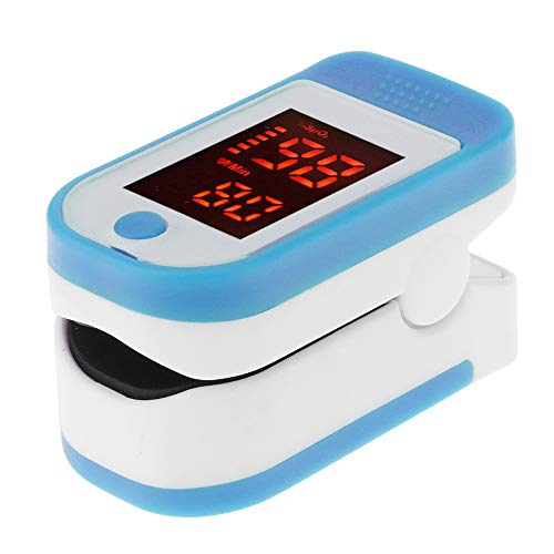 DRhomehouse Pulsossimetro da Dito, Pulsossimetro Display Digitale a LED per misurazione della frequenza del Polso Ossigeno nel Sangue Saturazione Monitoraggio del reparto Assistenza domiciliare