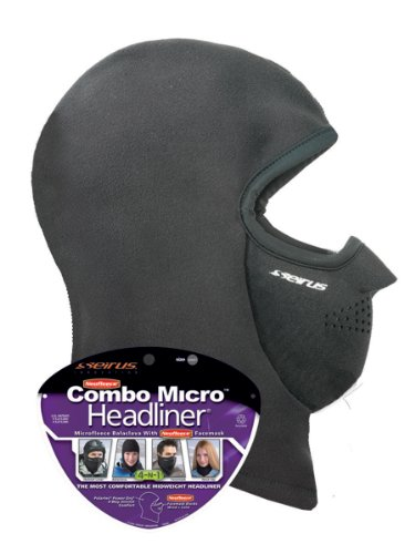 Seirus Innovation Unisex Combo Micro Polartec Headliner - Head Face and Neck Warmth Protection