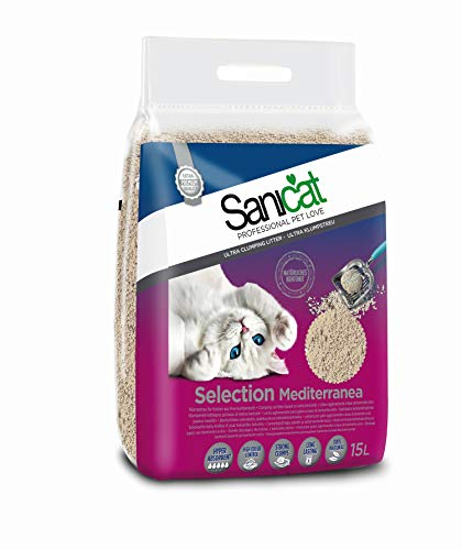 Sanicat 803599 Gatto diffusa Selection Mediterraneo, 15 L