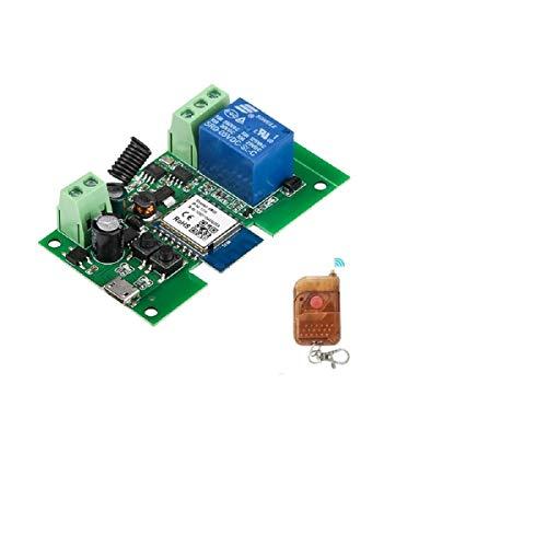 Modulo relè MHCOZY WiFi Wireless Smart Switch, Smart Home fai-da-te, Pulsante di contatto pulito WIFI a impulso momentaneo autobloccante, lavora con l'assistente alexa (Smart life app, 1CH)