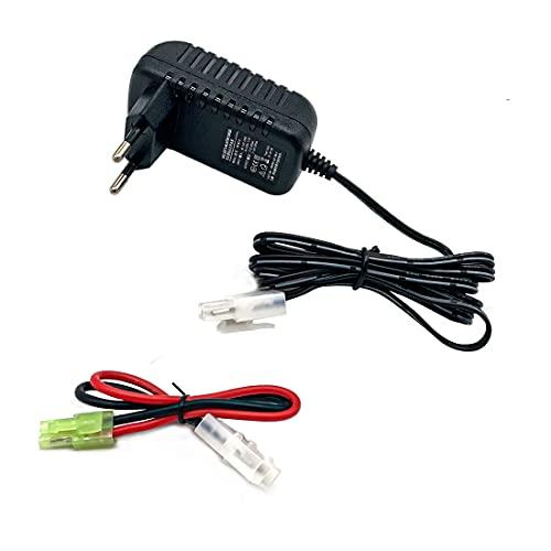 Nuofan Cargador de coche para baterías NiMH/NiCd, 9,6 V, 7,2 V, 8,4 V, con cargador Tamiya para baterías Traxxas NiMH y Airsoft