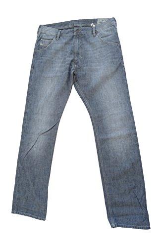Diesel Mens Krooley Denim Jeans Wash Sr365 Regular Slim Carrot (Waist 29 Leg 32) Blue