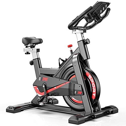 Olz Indoor Cycling Cyclette Spin Bike Studio Cicli Esercizio Macchine Manubrio Regolabile e Posto a Bordo Computer Legge velocità, Distanza, Tempo, Calorie + Pulse,Nero