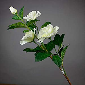 ZJJZH Artificial Decorative Flowers Gardenia Artificial Flower Desktop Placed Decorative Flower Arrangement Single Living Room Table Nostalgic Fake Flower Flower Products Include:Artificial Flowers.