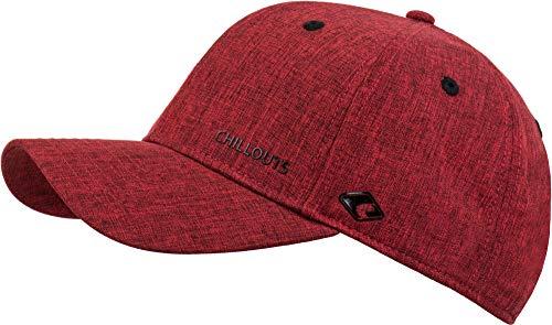 CHILLOUTS Cap Christchurch Hat hochwertige Hüte Mützen und Caps für Herren Damen und Kinder in 4 Farben, Farbe:red/Black (CHR 02)