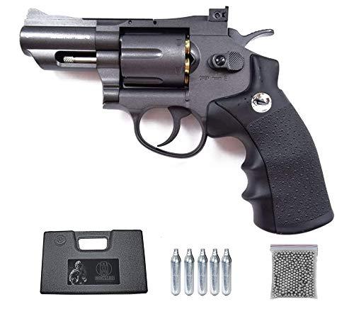 Super Sport 708 2.5″ Borner Pack Revolver de balines Full Metal (perdigones Bolas de Acero BB's). Arma de Aire comprimido CO2 Calibre 4,5mm Potencia de 2.55 Julios