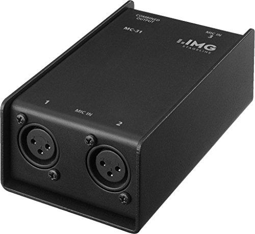 IMG Stageline MC-31, 3-fach-Mikrofon-Combiner zum Anschluss von 3 Mikrofone an z.B. ein Mischpult