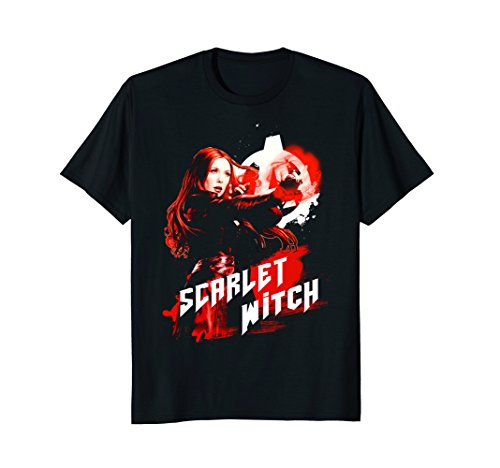 Marvel Infinity War Scarlet Witch Red Splat Graphic T-Shirt
